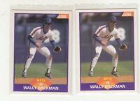 WALLY BACKMAN 1989 Score #315 No Copyright Promo Prototype Variation NY Mets