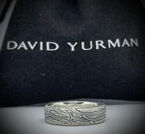 David Yurman 6mm Northwest Band Ring Size 11 Sterling Silver