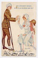 Par Xavier SAGER . WW1. POILU . Croix rouge . Red cross . Nurse