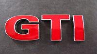 VW GTI Badge GOLF POLO PASSAT MK4 MK5 MK6 TDI GT TURBO RED