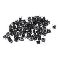 100Pcs 6x6x4.5mm Panel PCB Momentary Tactile Tact Push Button Switch 2P3