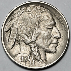 1913 UNITED STATES COPPER NICKEL INDIAN HEAD BUFFALO NICKEL 5 FIVE CENT COIN