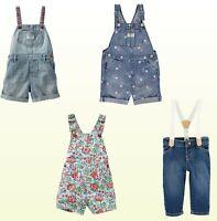 NWT Oshkosh B'Gosh Baby/Toddler Girls Bib Shortalls / Overalls / Suspender Jeans