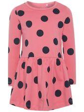 NAME IT langarm Kleid NMFVanya rosa blau Punkte Baumwolle Größe 92 bis 122