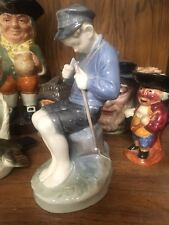 1963 Royal Copenhagen Denmark Porcelain Figurine #905 Boy Whittling a Stick