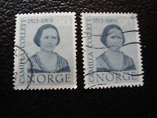 NORVEGE - timbre yvert et tellier n° 451 x2 obl (A30) stamp norway (A)