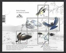 CANADA 2018 BIRDS OF CANADA OVERPRINTED  MINIATURE SHEET  FINE USED