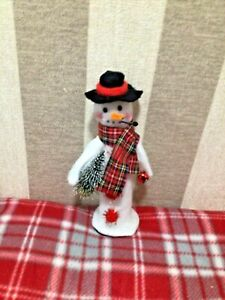 christmas snowman ornament with space for candy