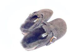 Birkenstock Boston fur mocca ciabatte pelliccia lana