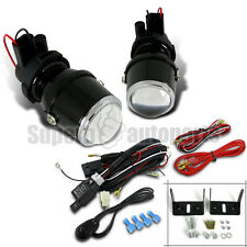 H3 12V/55W Glass Projector Clear Fog Lights+Wiring Harness/ Relay/ Switch Kit