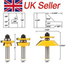 "Shaker 3 Bit Cabinet Door Router Bit Set - 1/2"" Shank Woodworking Cutter UK"