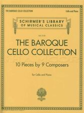 The Baroque Cello Collection Classical Sheet Music Book with Piano
