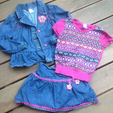 JEANS SKIRT JACKET SHIRT 5 5T Faire Isle GYMBOREE Set Lot Holiday Christmas Gift