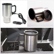 Coffee Cup Car Travel Camper12V Heated Smart Mug Stainless Steel Cigar Lighter
