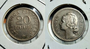 ANGOLA 20 CENTAVOS 1921 Km#64 GREAT CONDITION