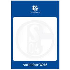 FC Schalke 04 Aufkleber weiß 8cm (neu)