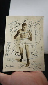 Lt Jack Dempsey Lou Ambers Autographed Photo with Others