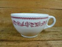 Vintage 1951 Buffalo China Kenmore Red Restaurant Ware Coffee Mug Cup 6 oz.