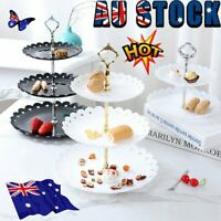 3 Tier Tool Cake Plate Stand Fruit Party Serving Fittings Food Cupcake Wedding~A