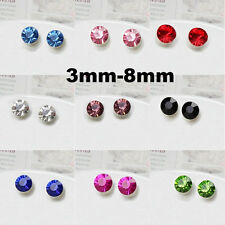 Pair Non Piercing Clip on Magnetic Magnet Ear Stud Mens Womens Fake Earrings