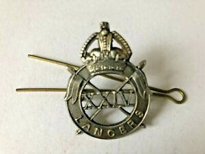 BADGE INSIGNIA 24TH LANCERS IMPERIAL CROWN