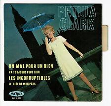Petula CLARK 45T EP UN  MAL POUR BIEN - LES INCORRUPTIBLES -VOGUE 8386 Languette
