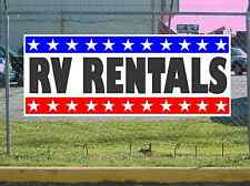 Stars & Stripes RV RENTALS Banner Sign NEW 2x5