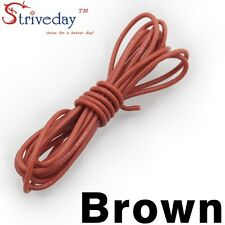 1 meters Brown 30AWG Flexible Silicone Wire Outer Diameter 1.2mm DIY Cable line
