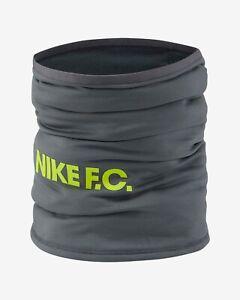 Nike FC unisex Snood Neck Warmer warm Football   Smoke Grey/Volt  one size