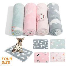 KE_ Cartoon Animal Print Soft Cat Dog Puppy Fleece Winter Warm Blanket Bed Tow