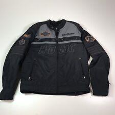 Harley Davidson Mens MOTO Black HDMC V-twin MOTORCYCLE Jacket XL#116