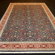 Orient Teppich Hereke 336 x 242 cm Dunkelblau Floral Turkish Carpet Rug Alfombra