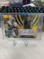 2019 JOSH JACOBS Panini Select RPA Gold Prizm 3-Color Patch Auto 9/10 RC Rookie