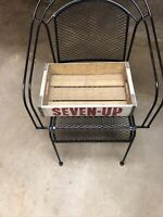Vintage 7up Soda Pop The Uncola Wooden Crate Carrier White W Red Lettering