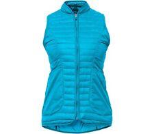 Lija Armadillo Insulated Golf Vest Size Medium Front Pockets & Back Teal Blue