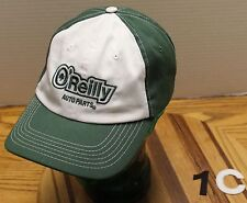 O'REILLY AUTO PARTS CAP GREEN & WHITE, ADJUSTABLE, PRE-OWNED VGC