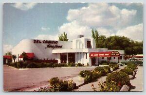 El Paso TX~Del Camino Coffee Shop~Epitome of Art Deco Style~Porte Cochere~1950s
