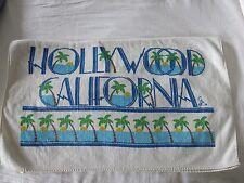 VINTAGE RARE UNIVERSAL STUDIOS HOLLYWOOD CALIFORNIA BEACH ASCIUGAMANO Crema Blu Verde
