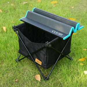 Outdoor Folding Waterproof Storage Basket Picnic Table Invisible Pocket Camping