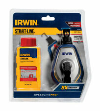 Irwin  Strait-Line  Red  Braided  Chalk and Reel Set  100 ft.