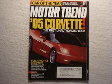 Motor Trend 2004 January Corvette SVT Focus ZX5 Porsche GT BMW 645Ci Dodge Ram S