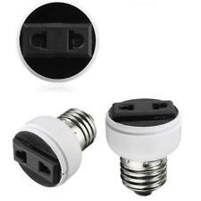 E27 Screw Socket Lamp Light Holder Bulb Convert To Power Female Outlet US EU * S