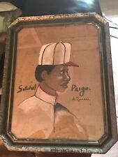 Satchel Paige Antonio Romano Folk Art Painting NICE