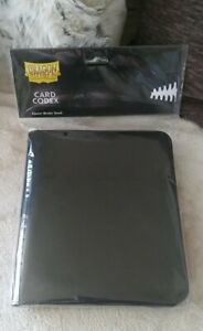 New! Dragon Shield - Card Codec Zipster Binder - Black. Approx..8'x9'x1.5'