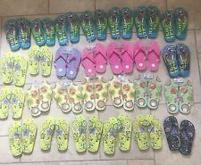 Lot of 27 Pairs Wholesale Kids Boys Girls Printed Flip Flops Sandals Sizes 1-3