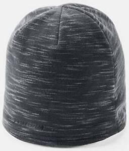 Under Armour men's $30 UA STORM Fleece Beanie Hat Jet Black 1 size
