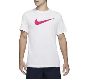 Nike Men's Swoosh DRI-FIT Logo Graphic Athletic Short Sleeve Active T-Shirt Tee