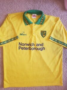 Norwich City Football shirt - Rare - Mitre - Size 42-44
