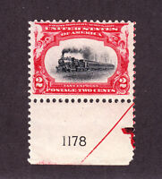 US 295 2c Pan-American Mint Plt #1178 Single F-VF OG NH SCV $40