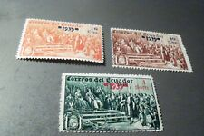 Ecuador 3 unlisted stamps with 1939 overprints MNH